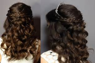 prom hairstyles half up half down youtube images
