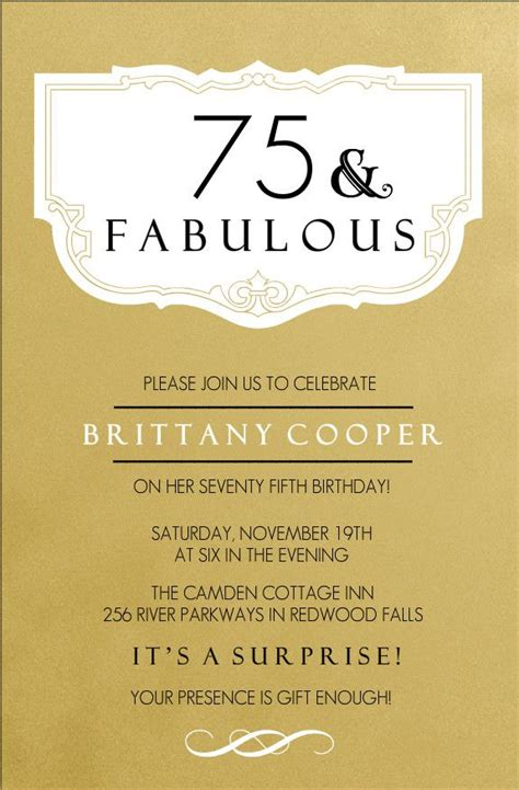 75th birthday invitation templates 25 best ideas about 75th birthday invitations on