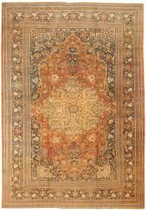 vintage rug antique tabriz carpet 43344 by nazmiyal