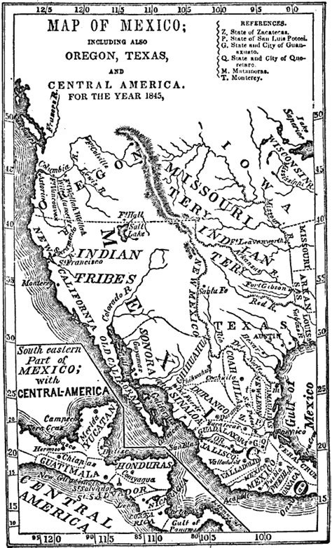 map of oregon 1800s mexico and western america