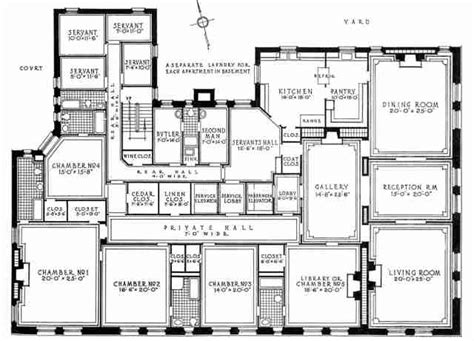 Large Apartment Floor Plans | a luxury new york city apartment from the early twentieth