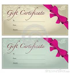 travel voucher gift certificate template gift voucher stock photography image 32764072