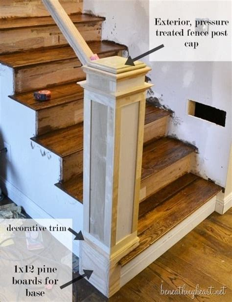 How To Build A Stair Banister by Best 25 Newel Posts Ideas On Interior