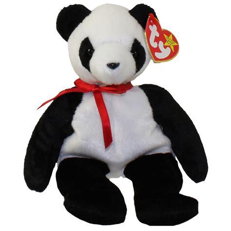 beanie baby ty beanie baby fortune the panda 8 inch