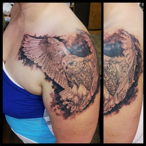 white owl tattoo snowy owl meaning