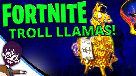 fortnite legendary troll stash llama opening