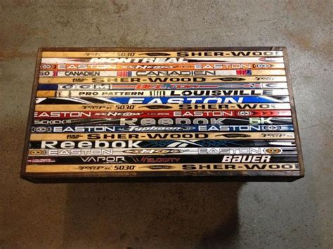 hockey stick coffee table hockey sticks hockey and coffee tables on