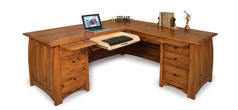 cabin creek corner l desk boulder creek l desk amish direct furniture