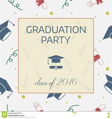 graduation celebration card design templates graduation celebrating invitation or postcard stock vector