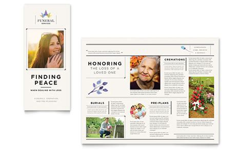funeral brochure template funeral services brochure template design