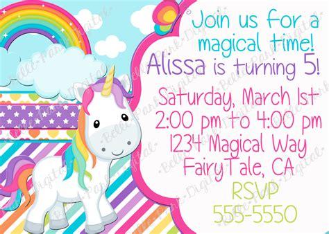 unicorn birthday card template unicorn birthday invitations cimvitation