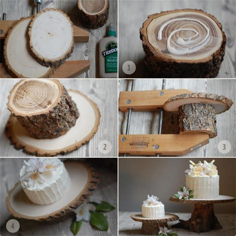 diy wedding cake stand ideas diy rustic wedding cake stand once wed