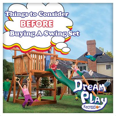 buy a swing things to consider before buying a swing set