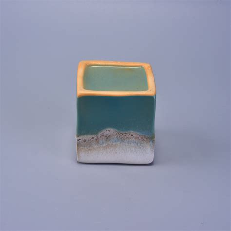 Square Ceramic Vase by Square Ceramic Vase For Candles Ceramic Candle Holders On