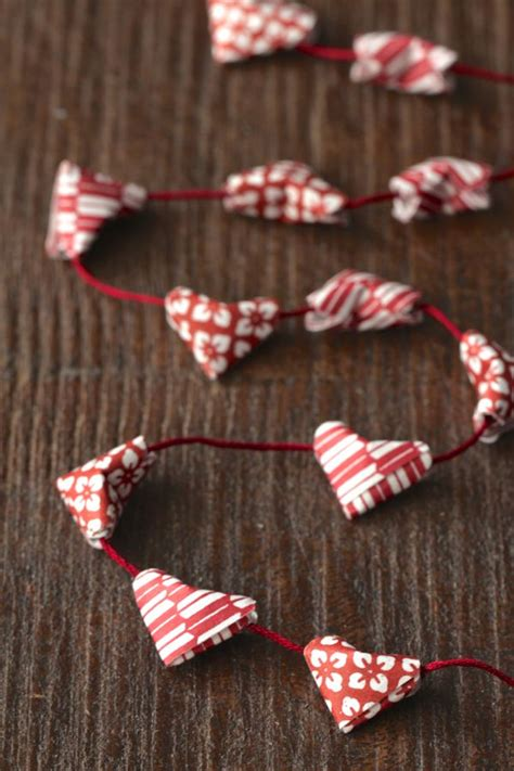 Folded Paper Garland - valentines day on flipboard
