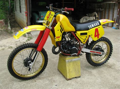 vintage yamaha motocross bikes vintage 1984 yamaha yz 125 motocross motorcycle owner