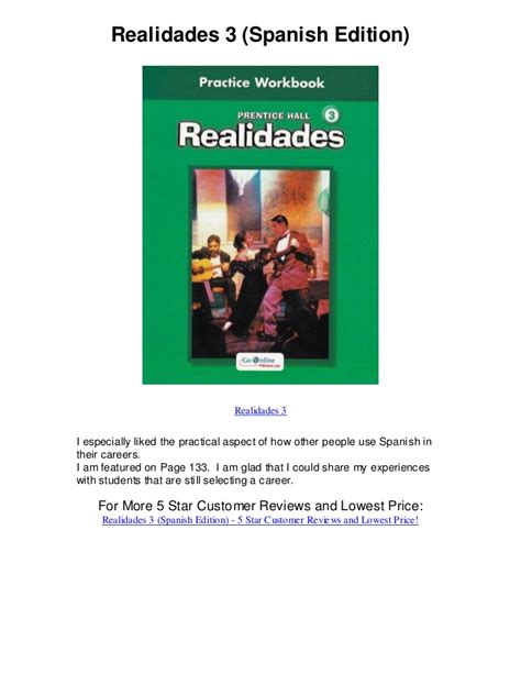 talk spanish 1 book cd 140667897x realidades 3 spanish edition realidades spanish language textbook