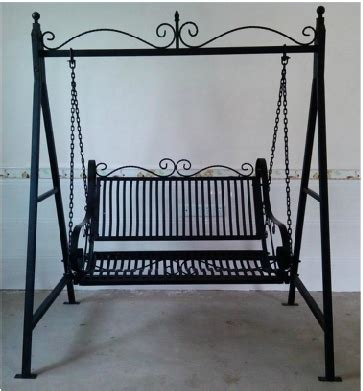 wrought iron swing with stand room balconies wrought iron swing wrought iron basket