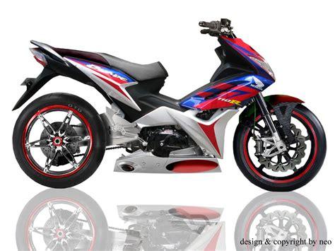 Modif Stiker New Blade Honda Orange 1 foto modifikasi motor honda blade juara motorcycle
