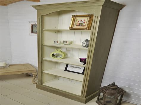 shabby chic bookcase white distressed bookcase shabby