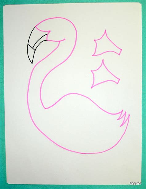 flamingo template tippytoe crafts feather painted flamingos