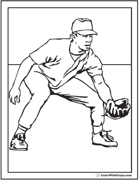 baseball coloring page pdf printable baseball player coloring pages coloring page
