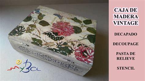 como decorar una caja de madera con servilletas c 243 mo decorar cajas de madera caja libro vintage con