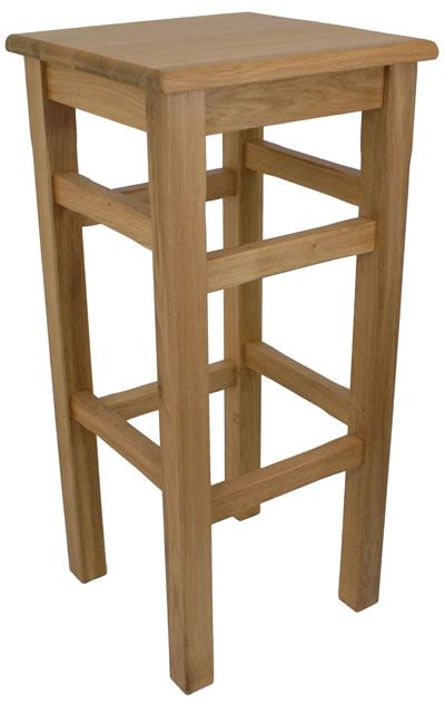 High Kitchen Stools by Crafty Solid Oak High Kitchen Bar Stool Fully Assembled