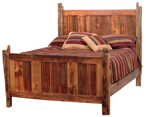 teton barnwood bed rustic furniture mall by timber creek