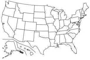 blank us outline map without states map of united states without names