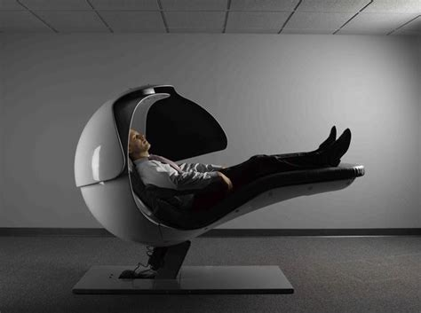 Google Chairs | bizarre energy pod that keeps googlers refreshed