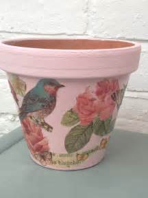 Decoupage Craft - 6 pretty flower pot decoupage ideas decoupage