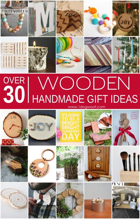 Handmade Wooden Gift Ideas - 30 wooden handmade gift ideas one woof