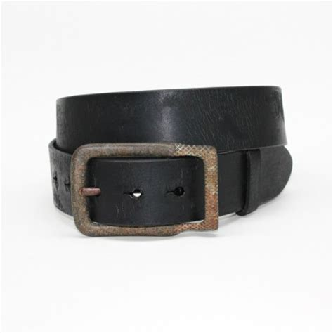 torino leather age distressed harness leather belt black