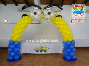 como hacer minions de globos arco de globos minions globos pinterest fiestas