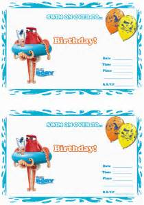 Finding Nemo Invitations Template by Finding Dory Birthday Invitations Birthday Printable