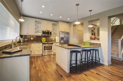 Peninsula Kitchen Ideas adero showhome in secord contemporary kitchen