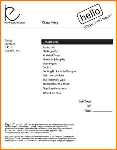 8 freelance graphic design invoice template short paid