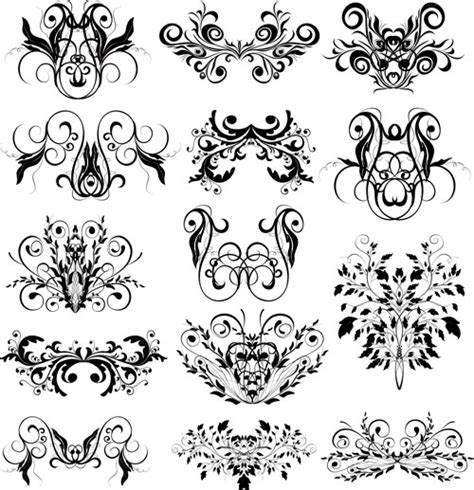vintage floral elements for design vector stock vector vintage vector graphics blog page 30