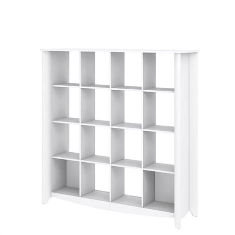 Bush Aero 16 Cube Bookcase Room Divider In Pure White White Cube Bookshelves
