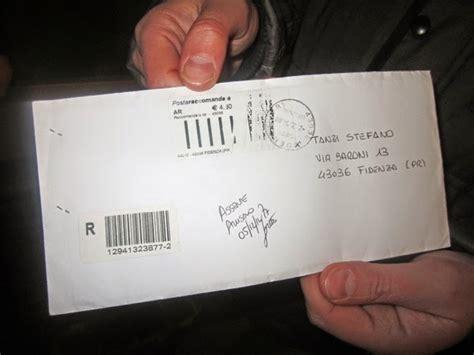 lettere raccomandate fidenza l apertura della busta conferma il nome tanzi quot c