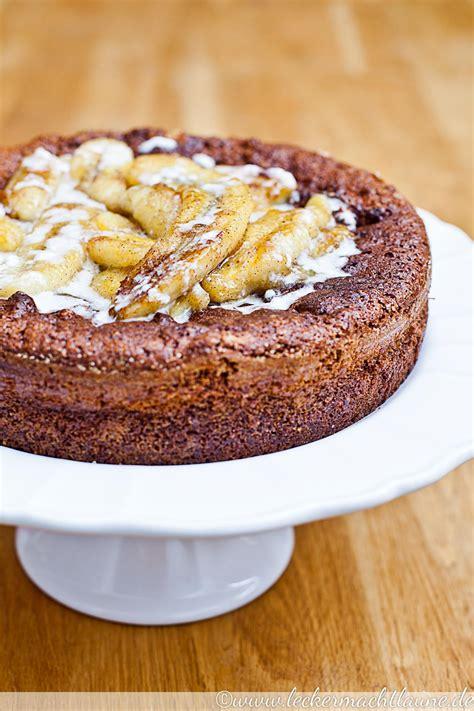 kuchen schoko schoko kokos kuchen mit karamellisierten bananen lecker