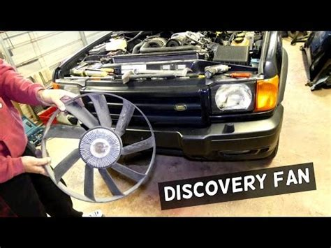 how to remove fan clutch without tool how to remove a land rover fan and viscous clutch witho