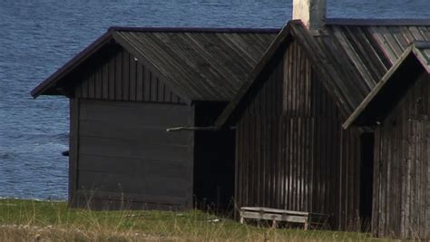 Cottages At Limestone On by Fishing Cottages On A Limestone In Sweden Stock Footage 75307