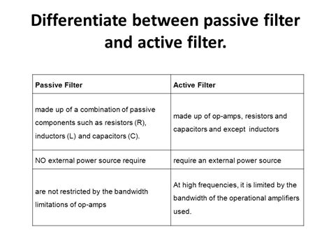 passive filter inductor filters ppt