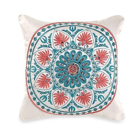 pixies pillows pics pixie square throw pillow in coral aqua bed bath beyond