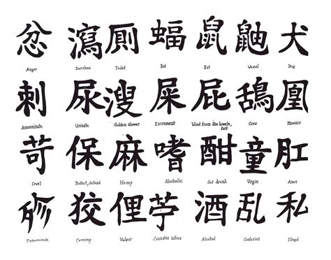 chinese symbols tattoo designs kanji tattoos