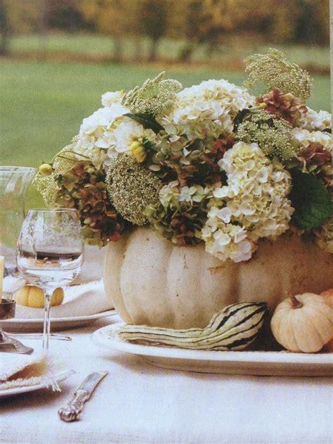 white pumpkin centerpiece fall decor pinterest