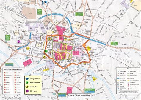 printable map leeds city centre large leeds maps for free download and print high