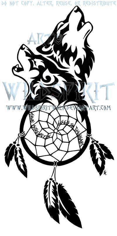 wolven dreamcatcher tattoo by wildspiritwolf on deviantart